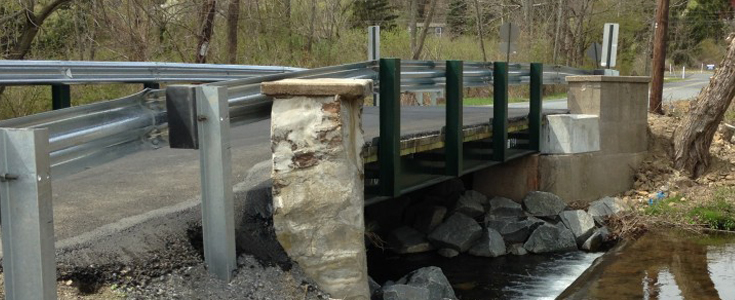 Newly replaced Yeakels Mill Road bridge